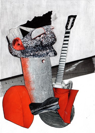 """Collages titled """"Musician"""" by Anna Reshetnikova, Original Art, Collages"""