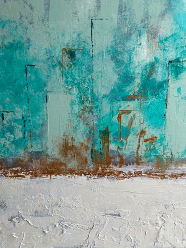 """Painting titled """"Filtre turquoise 1"""" by Anne Bonnaire, Original Art, Acrylic"""