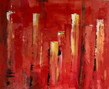 """Painting titled """"Flash fire"""" by Anne Bonnaire, Original Art, Acrylic"""