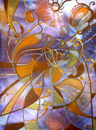 """Painting titled """"Microcosmos # 39"""" by Anne Brigaud, Original Art,"""