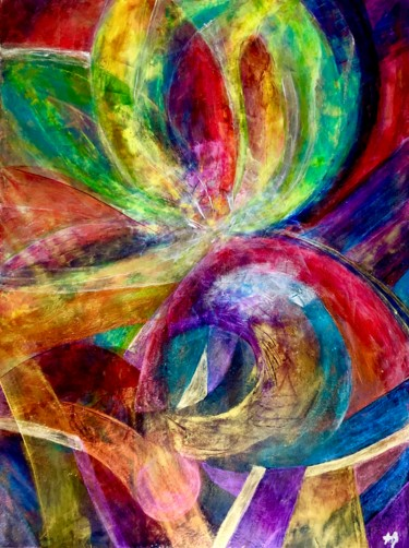 """Painting titled """"Microcosmos # 40"""" by Anne Brigaud, Original Art,"""
