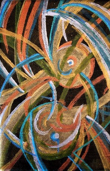 """Painting titled """"Microcosmos # 42"""" by Anne Brigaud, Original Art,"""