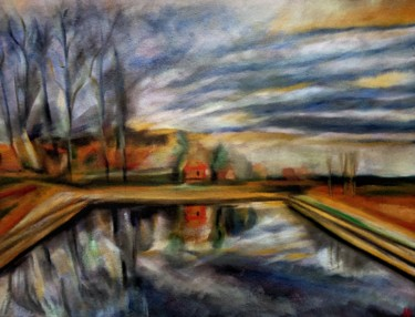 """Painting titled """"Lavérune"""" by Anne Brigaud, Original Art,"""