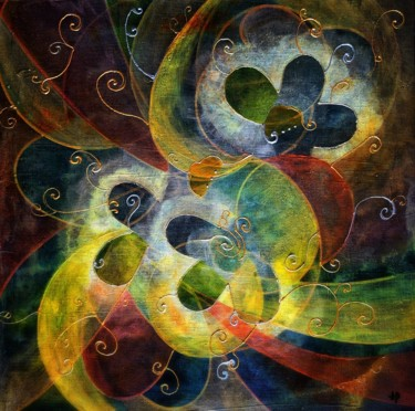 """Painting titled """"Microcosmos #46"""" by Anne Brigaud, Original Art,"""