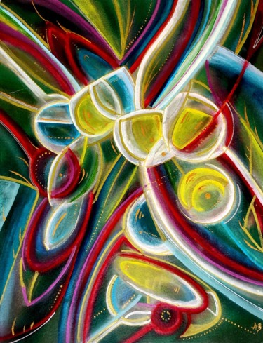 """Painting titled """"Microcosmos #49"""" by Anne Brigaud, Original Art,"""