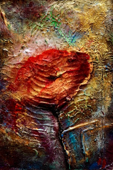 """Painting titled """"Coquelicots #3"""" by Anne Brigaud, Original Art,"""