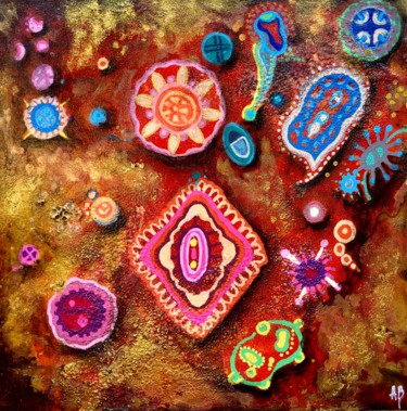 """Painting titled """"Microcosmos #54"""" by Anne Brigaud, Original Art,"""
