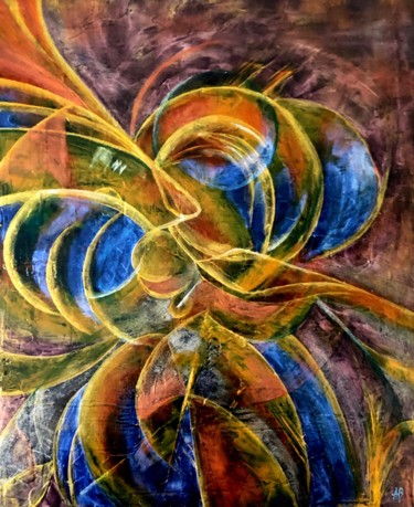 """Painting titled """"Microcosmos #62"""" by Anne Brigaud, Original Art,"""