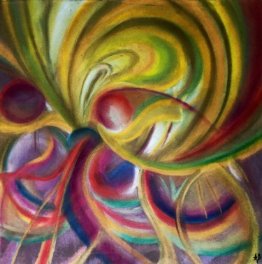 """Painting titled """"Microcosmos #63"""" by Anne Brigaud, Original Art,"""