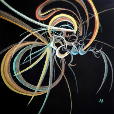"""Painting titled """"Microcosmos #64"""" by Anne Brigaud, Original Art,"""