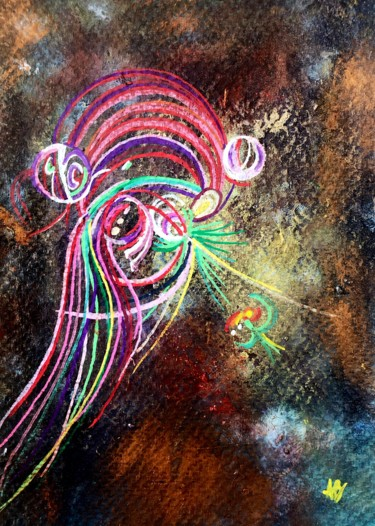 """Painting titled """"Microcosmos #66"""" by Anne Brigaud, Original Art,"""