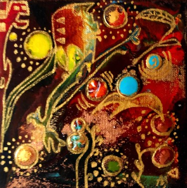Painting, acrylic, artwork by Anne Brigaud