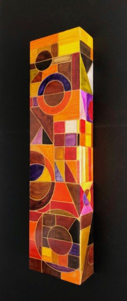 """Painting titled """"Colonne #1"""" by Anne Brigaud, Original Art, Acrylic"""