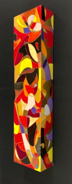 """Painting titled """"Colonne #2"""" by Anne Brigaud, Original Art, Acrylic"""
