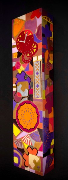 """Painting titled """"Colonne #3"""" by Anne Brigaud, Original Art, Acrylic"""