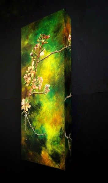"""Painting titled """"Amandiers #1"""" by Anne Brigaud, Original Art, Acrylic"""