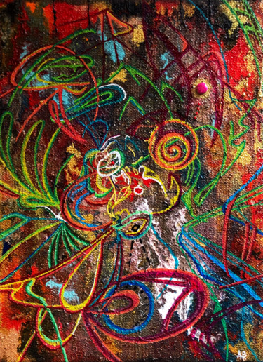 """Painting titled """"S'effilocher"""" by Anne Brigaud, Original Art, Acrylic"""