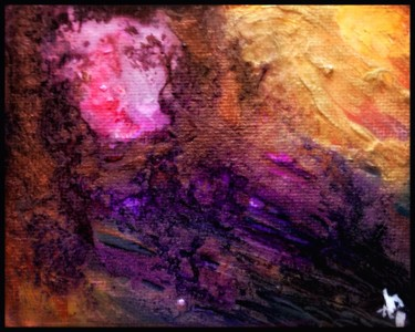 """Painting titled """"Golden sunset"""" by Anne Brigaud, Original Art,"""