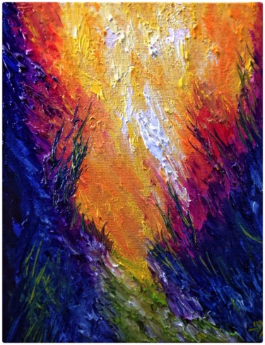"""Painting titled """"Et ici coule une ri…"""" by Anne Brigaud, Original Art,"""