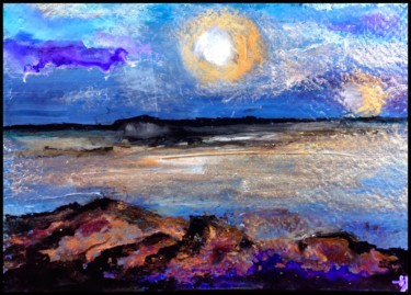 """Painting titled """"Coin de plage"""" by Anne Brigaud, Original Art,"""