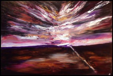 """Painting titled """"Pure tourmente"""" by Anne Brigaud, Original Art,"""