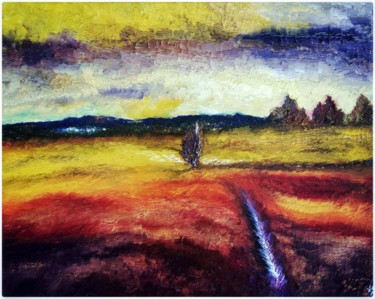"""Painting titled """"A través"""" by Anne Brigaud, Original Art,"""