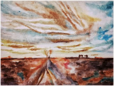 """Painting titled """"Paysage automnal"""" by Anne Brigaud, Original Art,"""