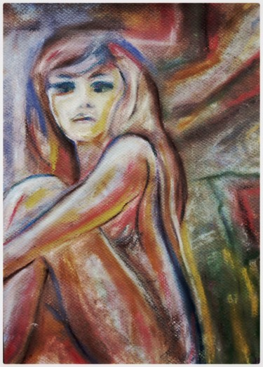 """Painting titled """"Pastel 1"""" by Anne Brigaud, Original Art,"""