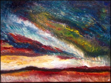 """Painting titled """"La terre rouge"""" by Anne Brigaud, Original Art,"""