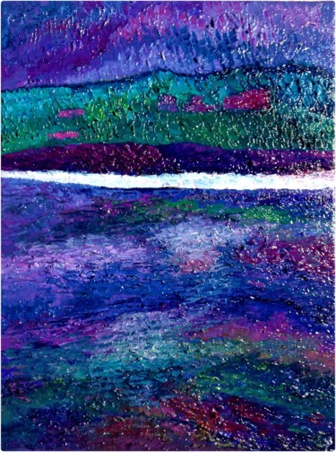 """Painting titled """"Rivages violets"""" by Anne Brigaud, Original Art,"""