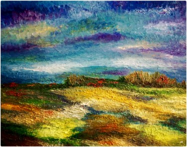 """Painting titled """"Aux champs"""" by Anne Brigaud, Original Art,"""