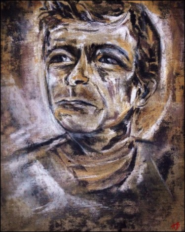 """Painting titled """"Le grand Serge"""" by Anne Brigaud, Original Art,"""