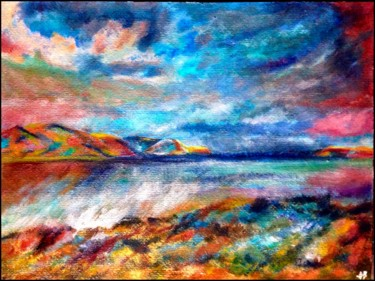 """Painting titled """"Les rivages d'Ulysse"""" by Anne Brigaud, Original Art,"""