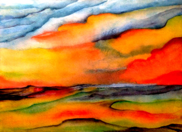 """Painting titled """"Les dunes"""" by Anne Brigaud, Original Art,"""