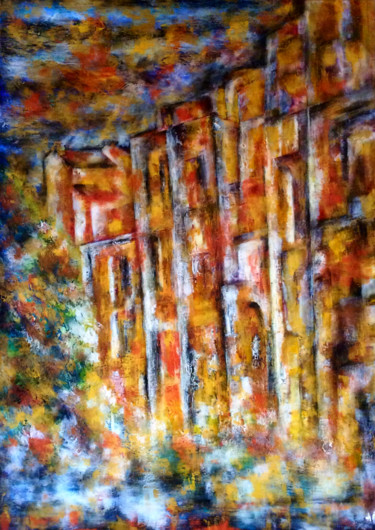 """Painting titled """"Venise d'or"""" by Anne Brigaud, Original Art,"""