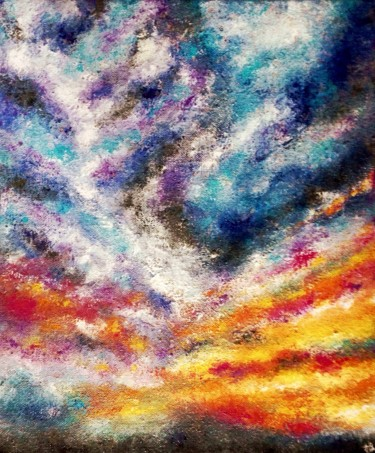 """Painting titled """"Nuages"""" by Anne Brigaud, Original Art,"""