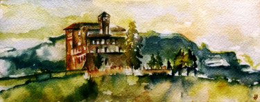 """Painting titled """"Toscane"""" by Anne Brigaud, Original Art,"""