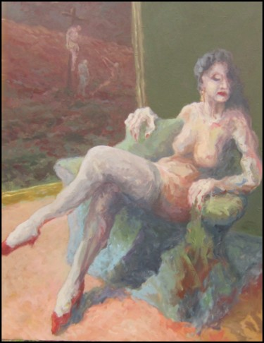 """Painting titled """"Marie-madeleine"""" by Philippe Guerry, Original Art, Oil"""