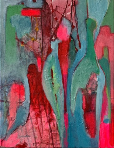 Painting, acrylic, abstract, artwork by Anne-Marie Delaunay-Danizio