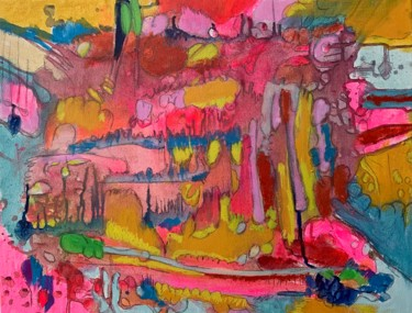 """Painting titled """"Roots"""" by Anne-Marie Delaunay-Danizio, Original Art, Acrylic"""