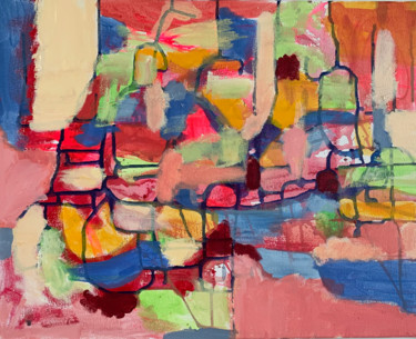 """Painting titled """"Excavations"""" by Anne-Marie Delaunay-Danizio, Original Art, Acrylic"""