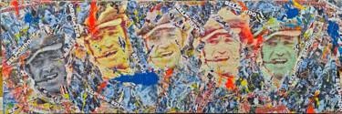 """Collages titled """"Tableau - JEAN PAUL…"""" by Anne Mondy, Original Art, Collages"""