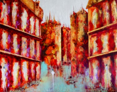 """Painting titled """"Avenir…"""" by Anne Sophie Vieren, Original Art, Oil Mounted on Stretcher frame"""