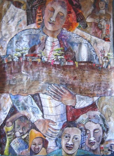 """Collages titled """"The warrior  - Full…"""" by Annette Du Plessis, Original Art,"""