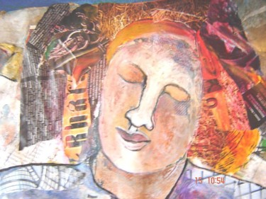 """Collages titled """"The warrior  - Clos…"""" by Annette Du Plessis, Original Art,"""