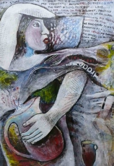 """Painting titled """"The Moonlight calli…"""" by Annette Du Plessis, Original Art,"""