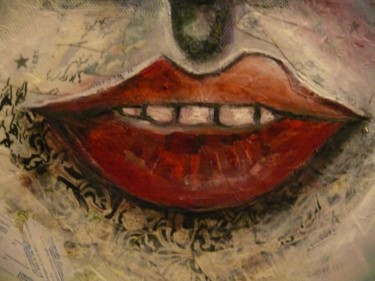 """Collages titled """"An angel watches ov…"""" by Annette Du Plessis, Original Art,"""