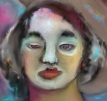 """Painting titled """"angelface"""" by Annette Du Plessis, Original Art, Other"""