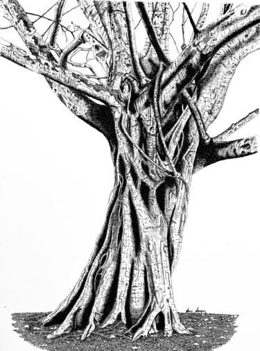 """Drawing titled """"Solidarity"""" by Anni Angus, Original Art, Ink Mounted on Other rigid panel"""