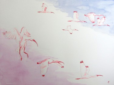 """Painting titled """"ibis"""" by Anthony Franzmann, Original Art, Ink"""